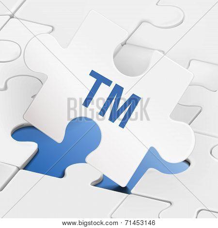 Tm Word On White Puzzle Pieces