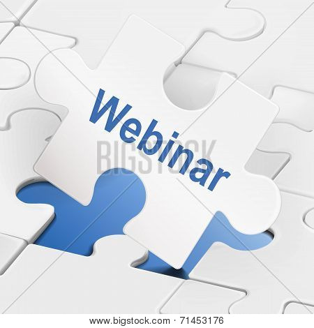 Webinar Word On White Puzzle Pieces