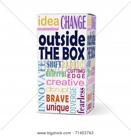 Outside The Box Words On Product Box