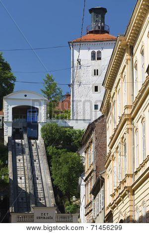 Funicular In Zagreb