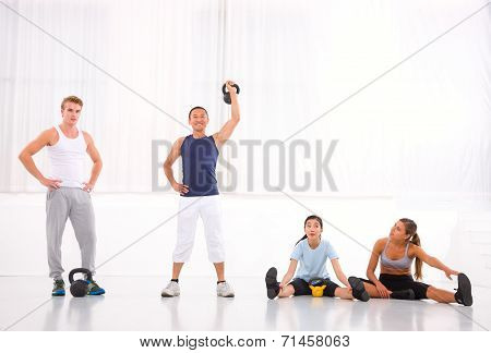 Diverse Group Of People In Gym