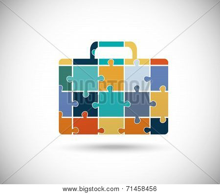 Abstract color suitcase