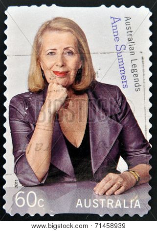 AUSTRALIA - CIRCA 2011: A stamp printed in Australia shows Anne Summers australian legends