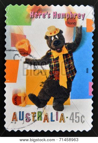 AUSTRALIA - CIRCA 1999: A stamp printed in Australia dedicated to children´s TV