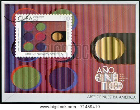 CUBA - CIRCA 2009: A stamp printed in Cuba dedicated to the art of our America