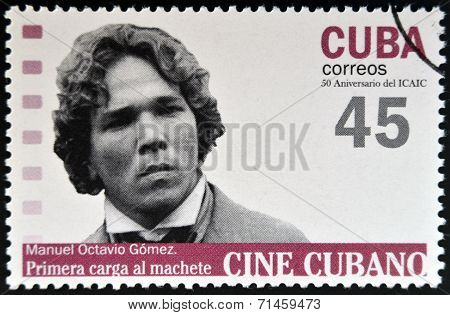 CUBA - CIRCA 2009: A stamp printed in Cuba dedicated to Cuban cinema