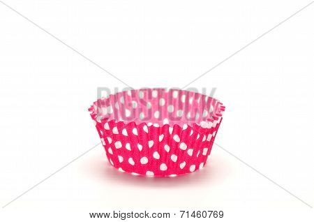 Paper case red for cupcakes