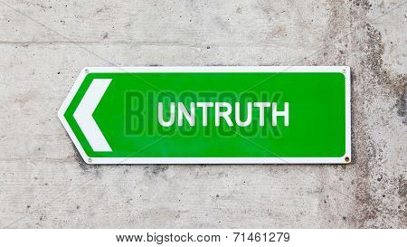 Green Sign - Untruth