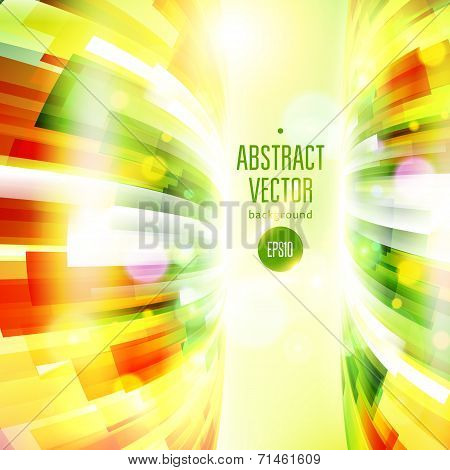 Abstract Fun Colorful Vertical Background