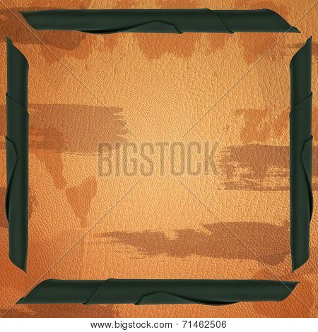 Leather Military Style Background
