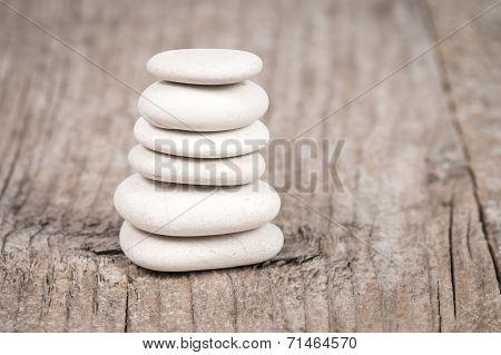 Pyramid Of Zen Stones