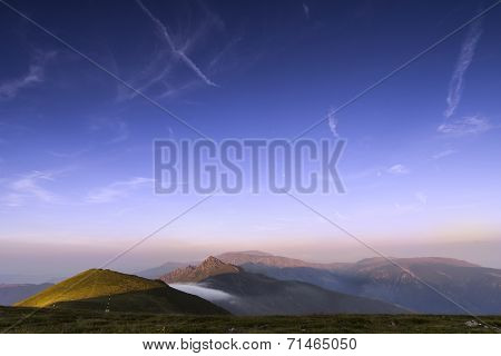 Sunset of Ambaritza peak 2