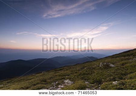 Sunset of Ambaritza peak