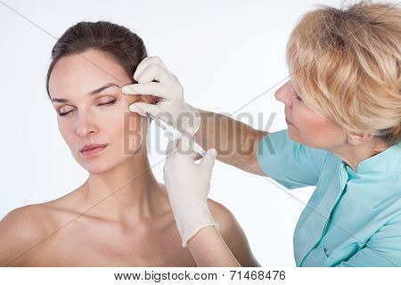 Injection On Isolated White Background