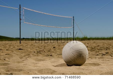 Beach volleyball and blue sky