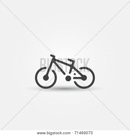 Vector bicycle icon - simple bike symbol
