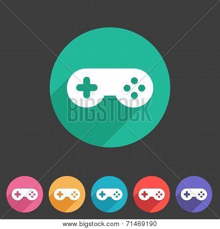 Game joystick flst icon badge