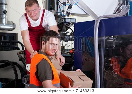 Working Factory Workers