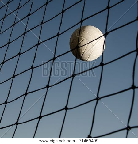 Volleyball by the net