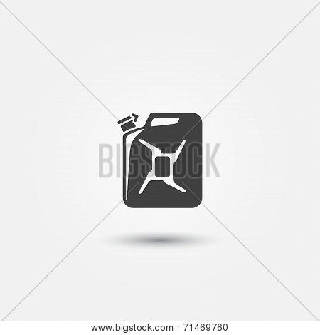 Auto gasoline tank vector icon