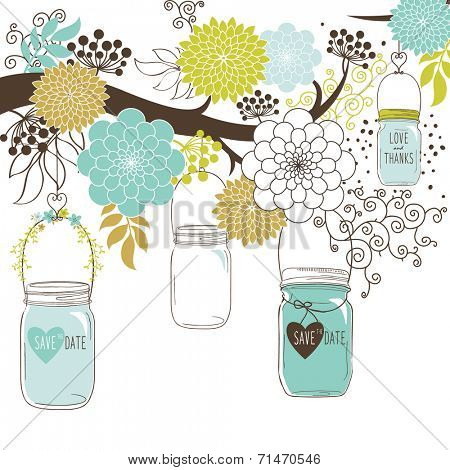Wedding floral Jar