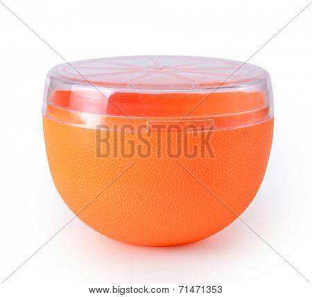 plastic jar on white