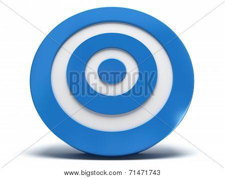 3D Blue Target