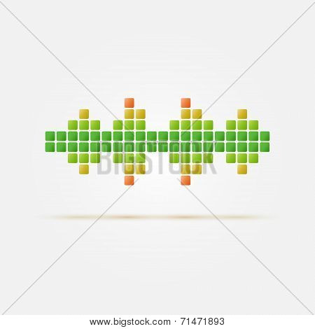 Soundwave vector icon - bright music symbol