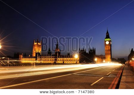 London Big Ben From Westminster Bridge