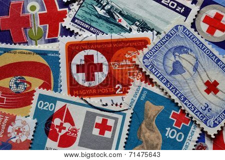 Humanitarian organizations stamps