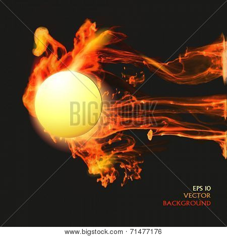 Abstract background with vector fire