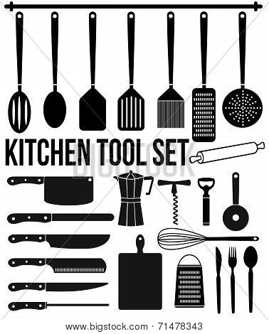 Kitchen Tool Icons Set