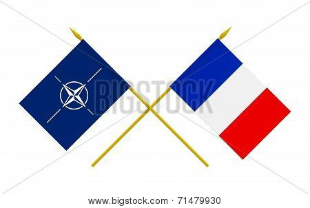 Flags, Nato And France