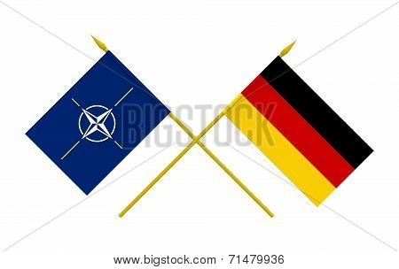 Flags, Nato And Germany