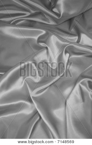 Silver Satin/Silk Fabric