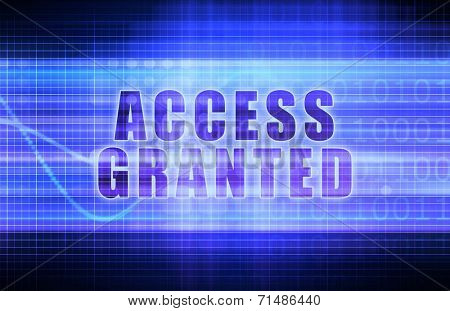 Access Granted on a Tech Business Chart Art