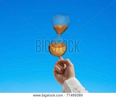Forefinger Balancing Hourglass