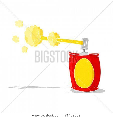 cartoon aerosol spray can