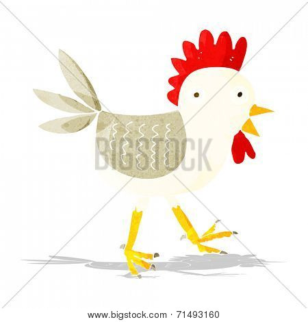 funny cartoon chicken