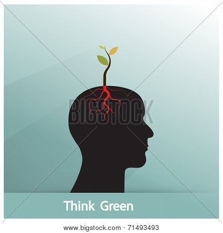 Think Green Concept.
