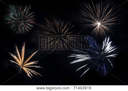 Separated Fireworks