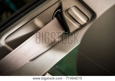 Car Seat Belt Closeup