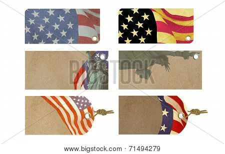 American Celebration Sale Tag