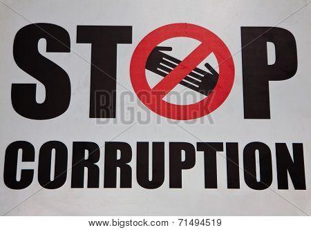 Stop Corruption Symbol
