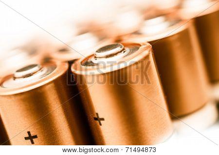 Aa Batteries Closeup