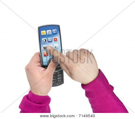 Modern Touchscreen Mobile Phone