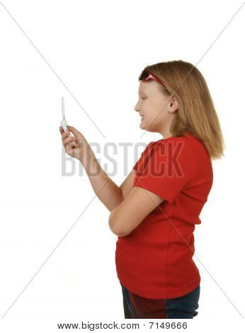 Girl Sending Text
