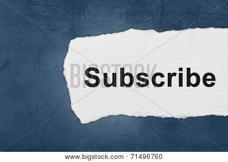 Subscribe With White Paper Tears
