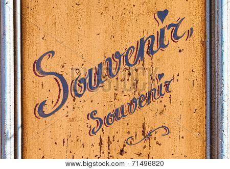 Souvenir Sign