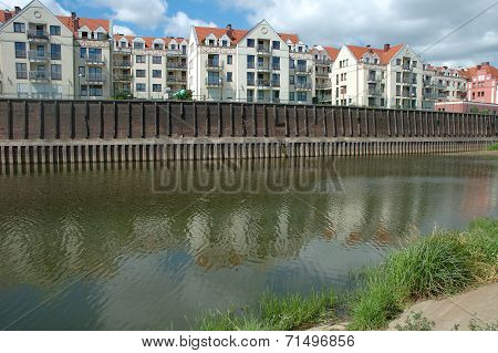 Buildings At Warta River In Poznan, Poland